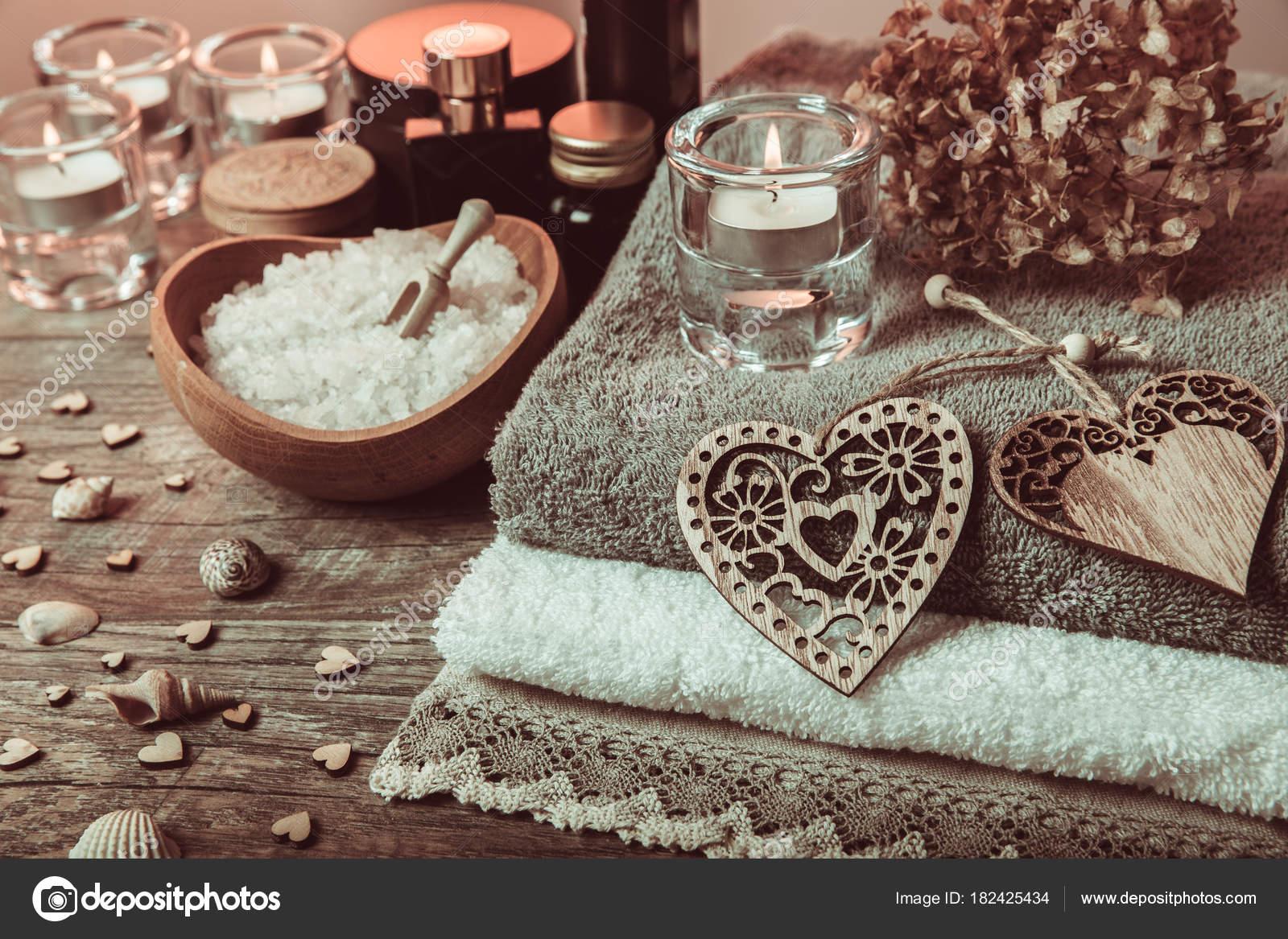Wellness Dekoration Spa Konzept In Valentinstag