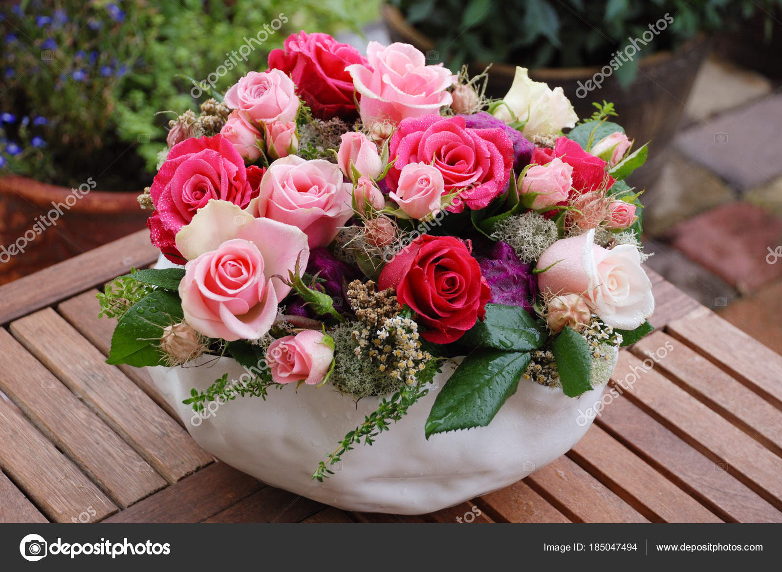Luxury bouquet made of red roses in flower shop valentines bouquet luxury bouquet made of red roses in flower shop valentines bouquet of red roses stock izmirmasajfo