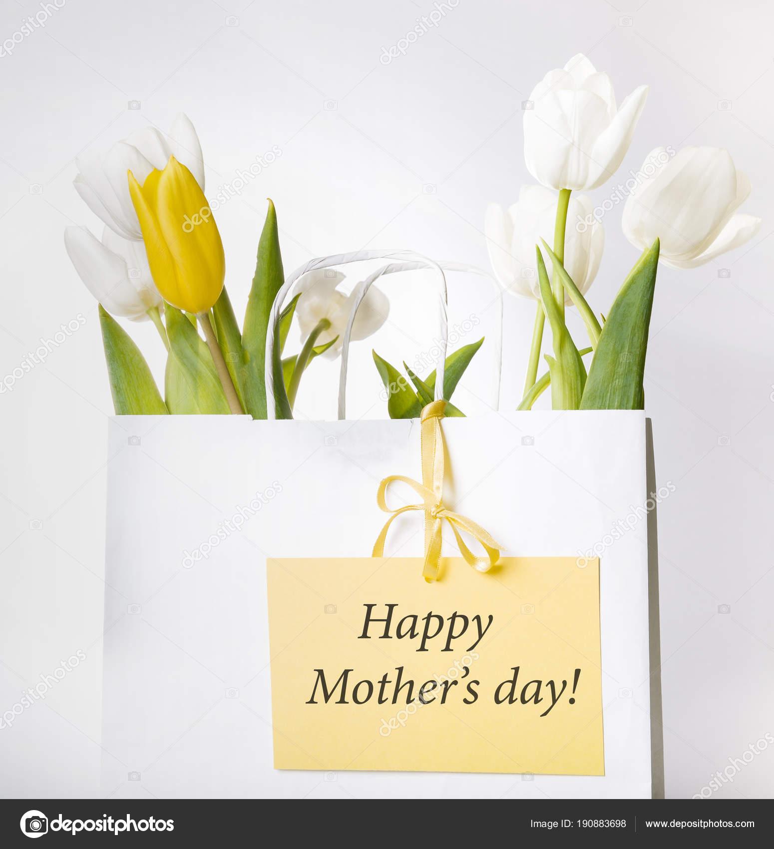 de187f559a Μητέρες ημέρα κάρτα με μπουκέτο της άνοιξης τα λουλούδια λευκά