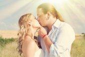 Šťastný pár v lásce - romantický vztah - Valentýn