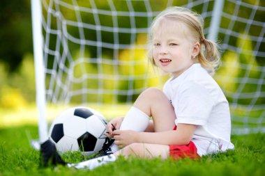 Cute little soccer player