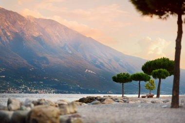 Scenic sunset at Limone sul Garda