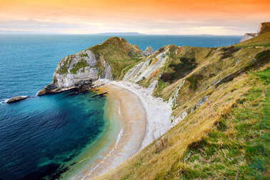 Man O'War Cove on Dorset coast
