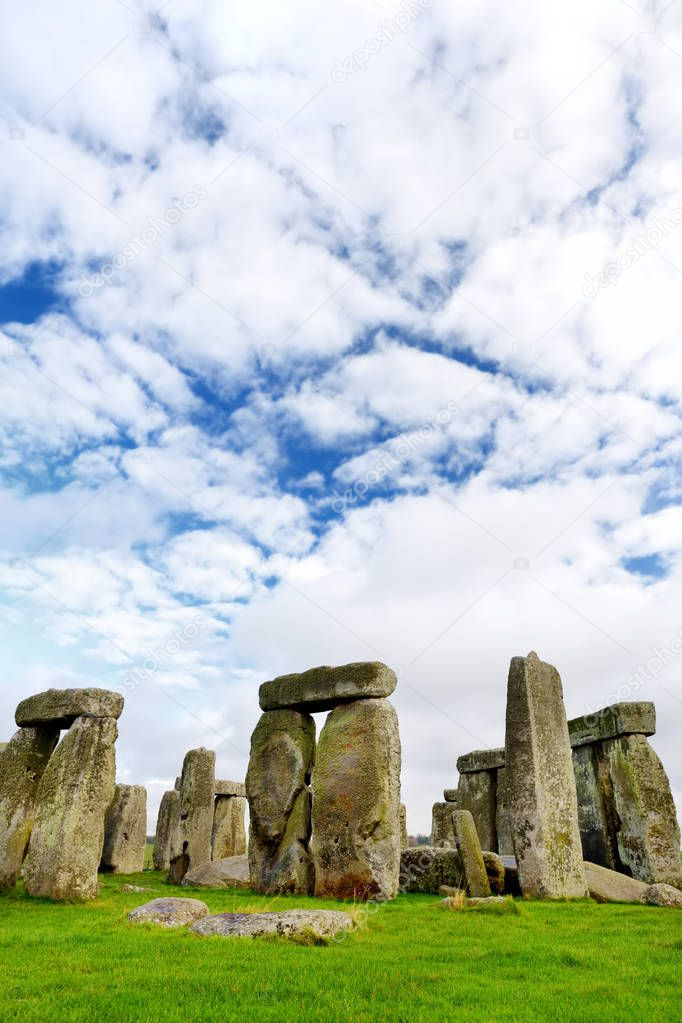 Stonehenge located in Wiltshire, England