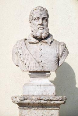 Bust of Joao de Barros in the Sao Pedro de Alcantara Garden. Lis