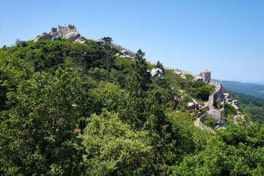 Castle of the Moors.  Sintra. Portugal