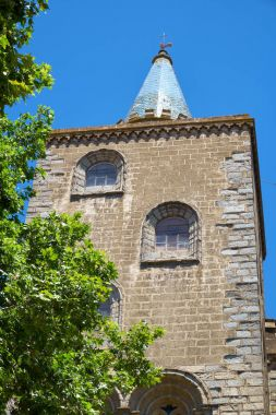 One of the two Gothic towers of the main facade of Evora Cathedr
