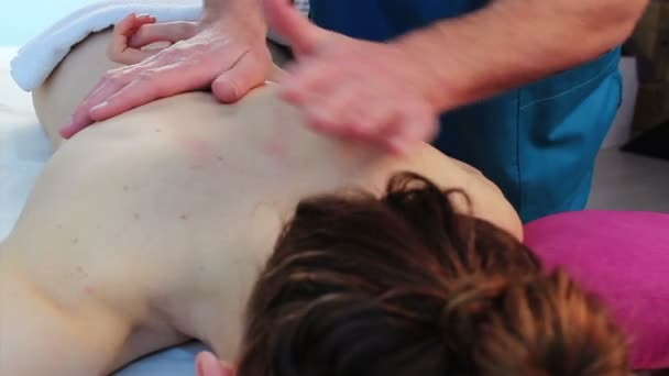 Back massage for woman