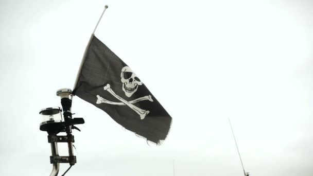 waving flag with skull and crossbones