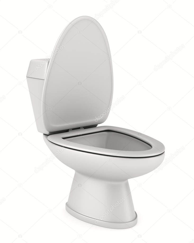 Inodoro Sobre Fondo Blanco Imagen 3d Aislada Fotos De Stock  ~ Como Limpiar El Fondo Del Inodoro