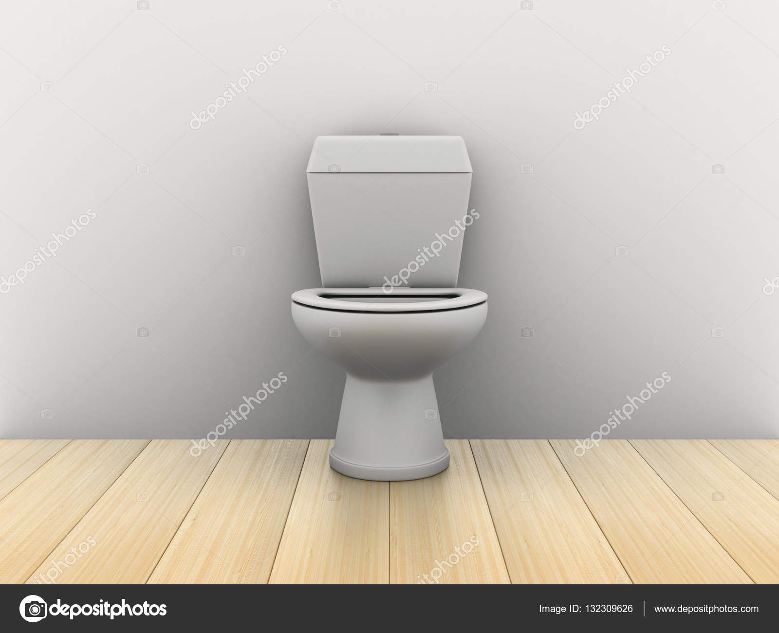 Kamer met water closet. 3d afbeelding u2014 stockfoto © isergey #132309626