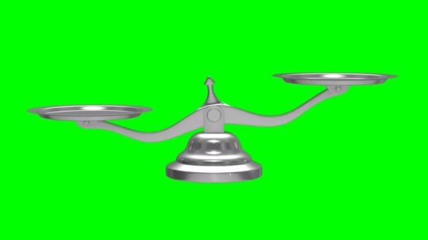 Scales on green background. Isolated 3D render