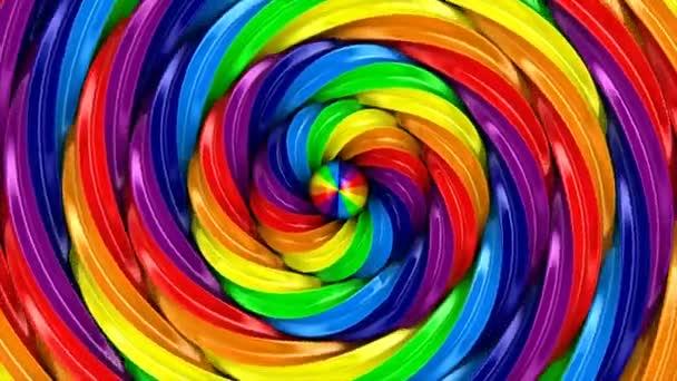 Zkroucené duhový kruh na bílém pozadí. izolované 3d vykreslení