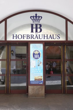 Main entrance of Hofbraeuhaus