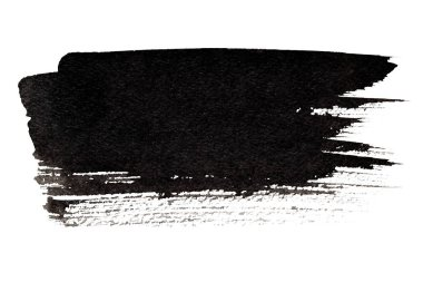 Expressive black brush stroke