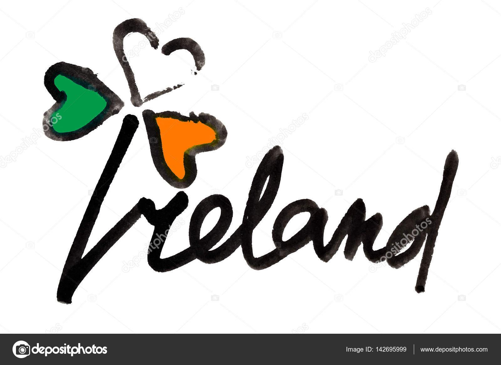 Irland Schriftzug