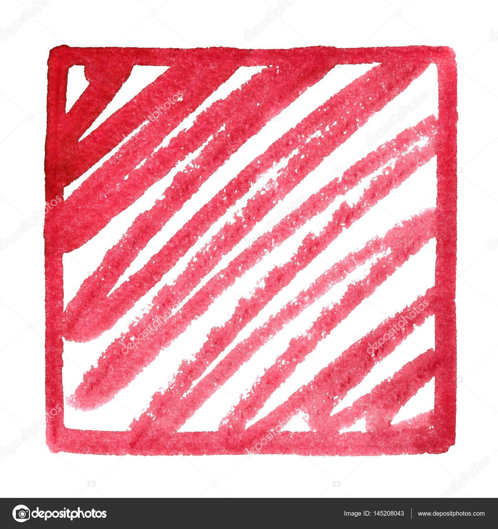 Rotes Quadrat Rahmen mit doodle — Stockfoto © Zoooom #145208043