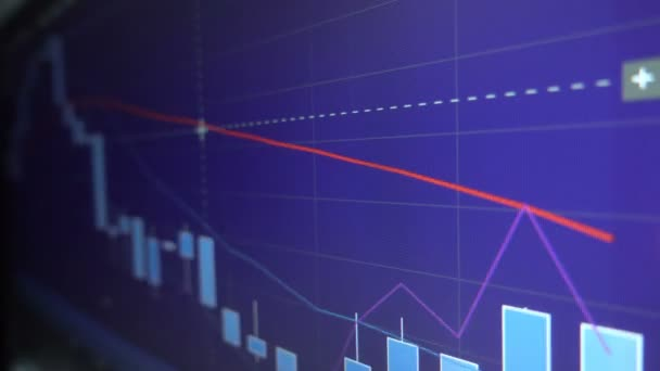 Candle graph charts of stock market investment trading - financial business background