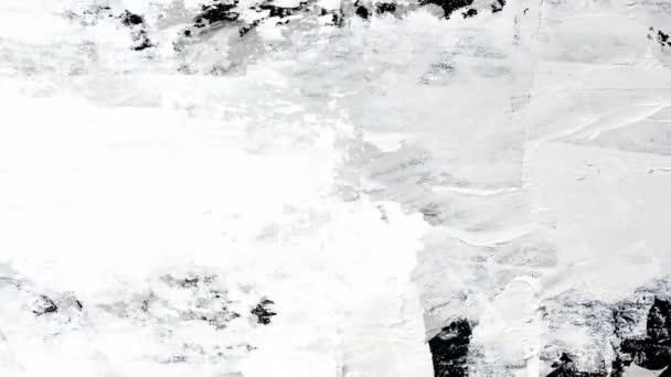 White Oil Paint Hand-painted Brush Strokes -- 4K Seamless looping abstract background