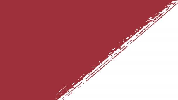 bandeira letónia letão bandeira desenho por traçados pincel vídeo