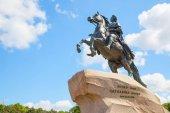 Jezdecká socha Petra Velikého v Petrohradě