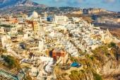 Fotografie Panoramablick auf Thira Stadt