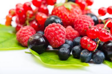 heap of different berries