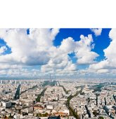Paris cityscape from Montparnasse tower