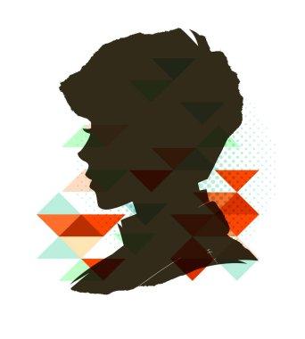 Vintage child silhouette
