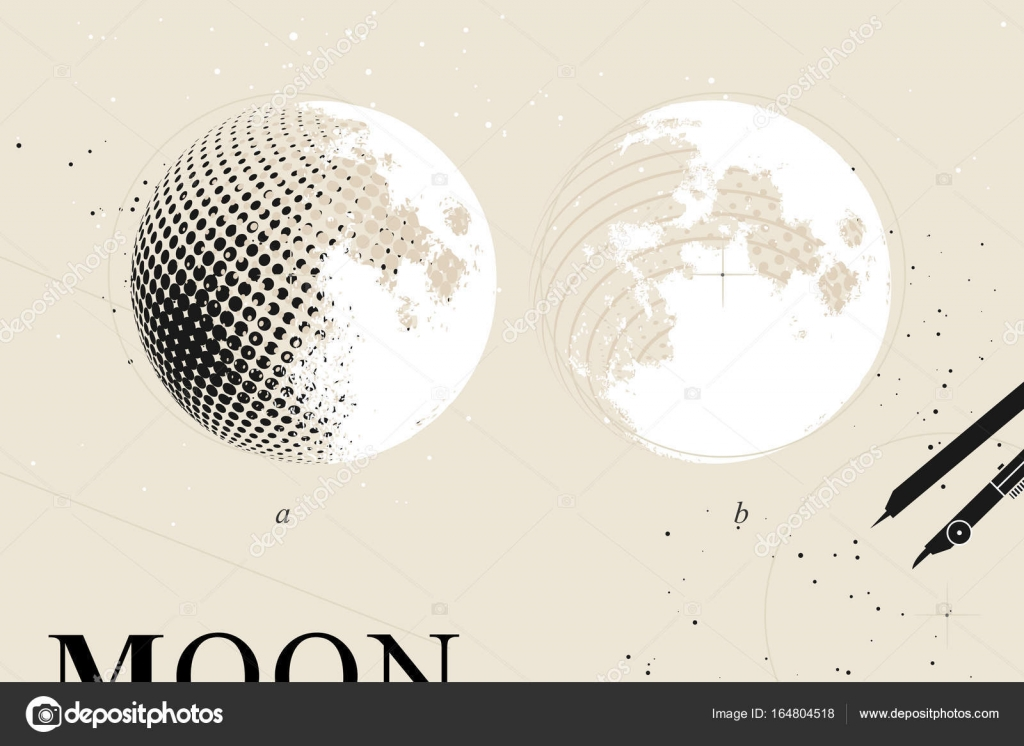 Moon Phases Poster Stock Vector