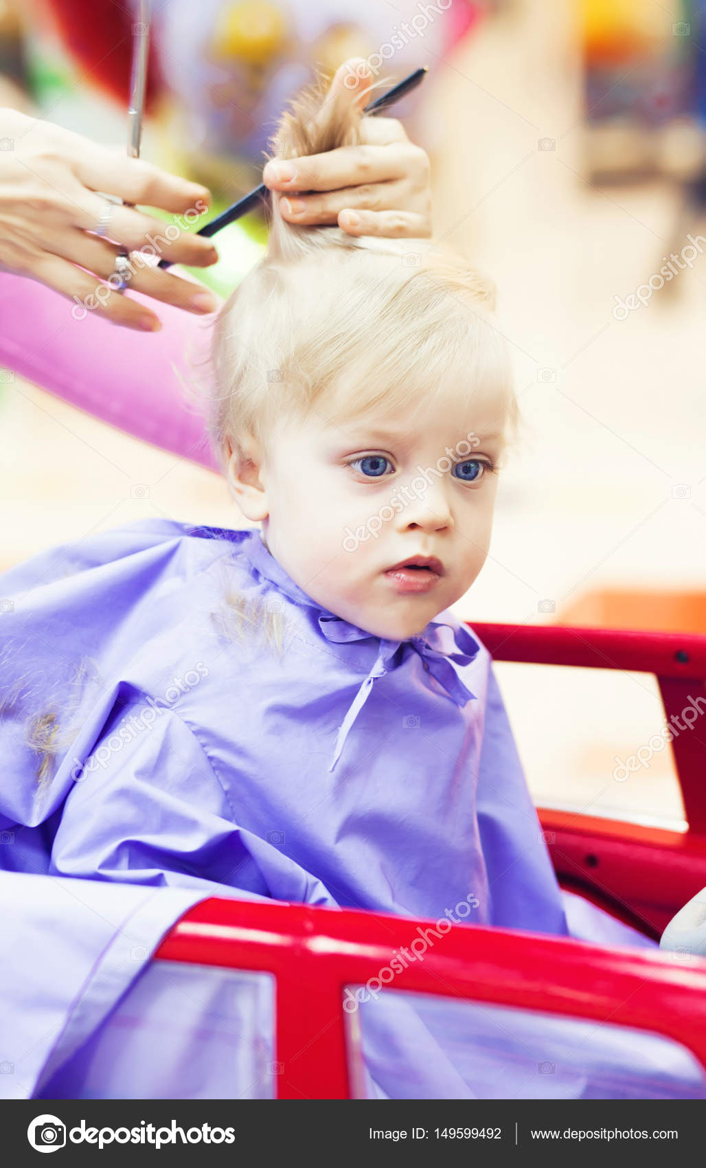 First Haircut Of Little Boy Stock Photo Nikascorpionka 149599492