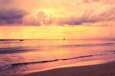 sunset at Seychelles beach