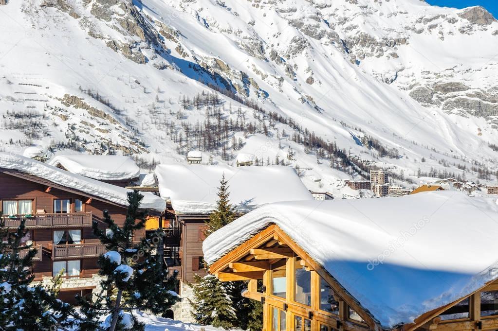 Alpine winter mountain