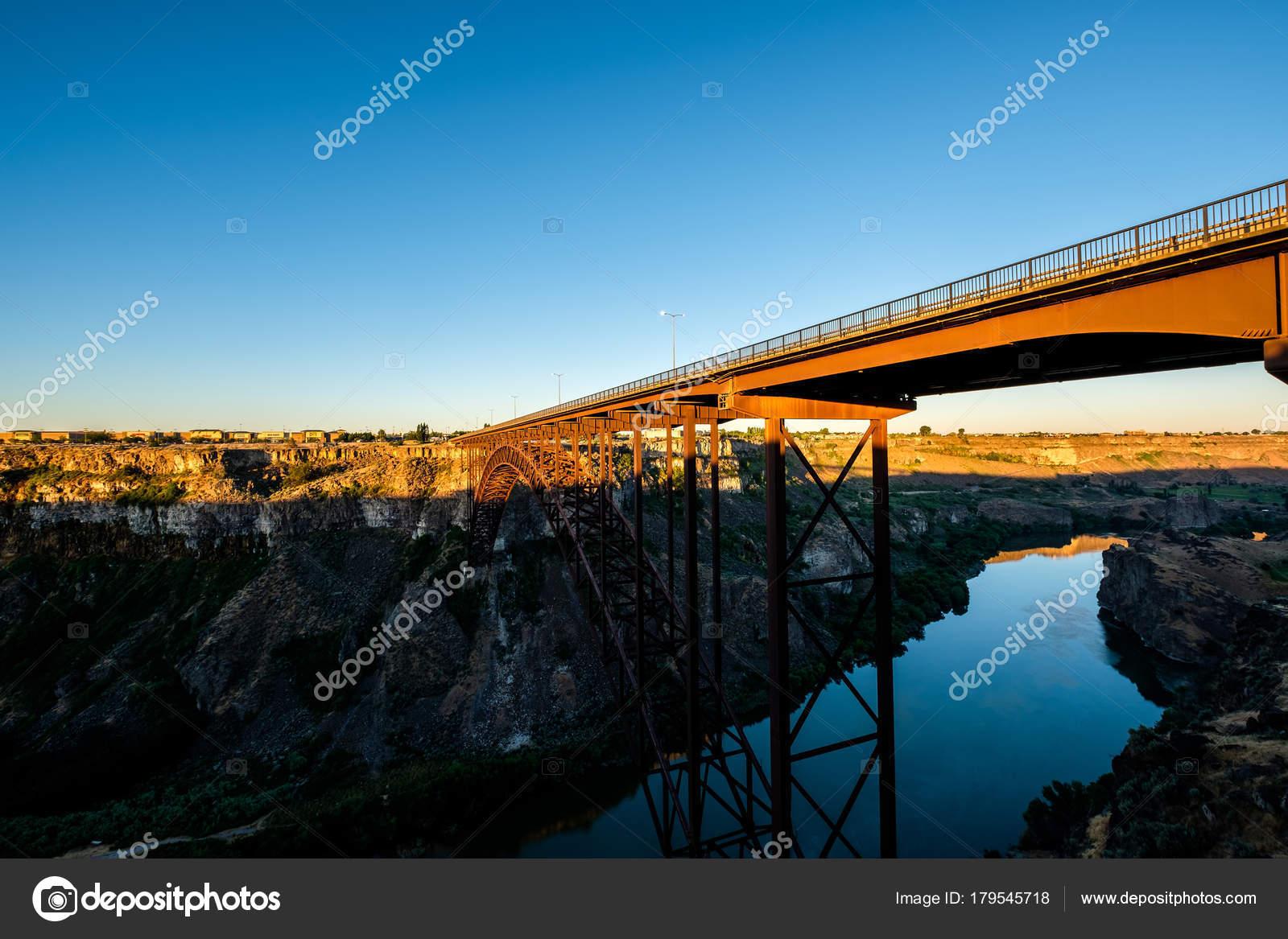 Snake River Und Perrine Bridge Der Nähe Von Twin Falls Stockfoto