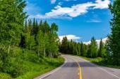 Autostrada a Parco nazionale Grand Teton, Wyoming, Stati Uniti