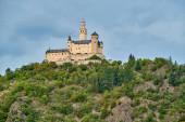 Marksburg kastély Rajna folyón Németországban