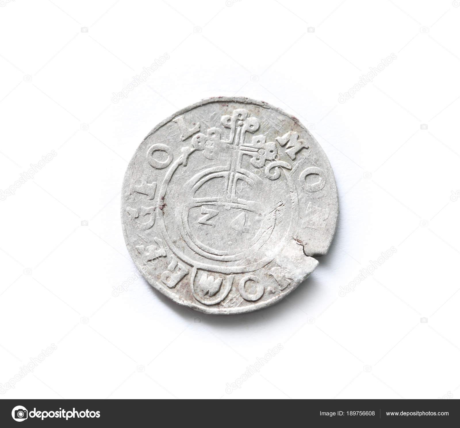 Antike Münze Des Litauischen Staates Poltorak Jahrhundert