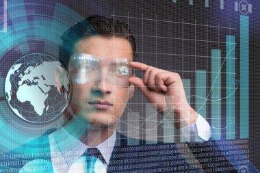 Businessman in future trading concept