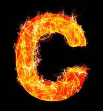 Burning letters as alphabet type C