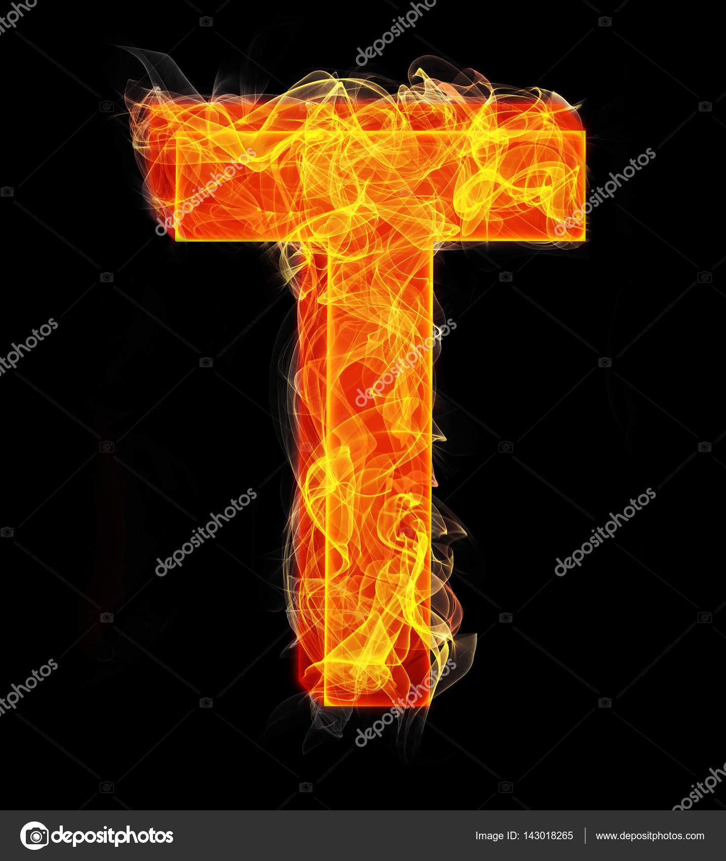 Burning Letters As Alphabet Type T Stock Photo C Elnur 143018265