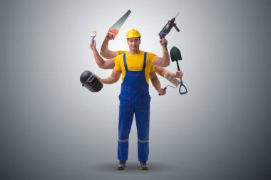 Jack of all trades concept with worker