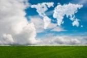 Mapa světa z oblaků v pojetí přírody