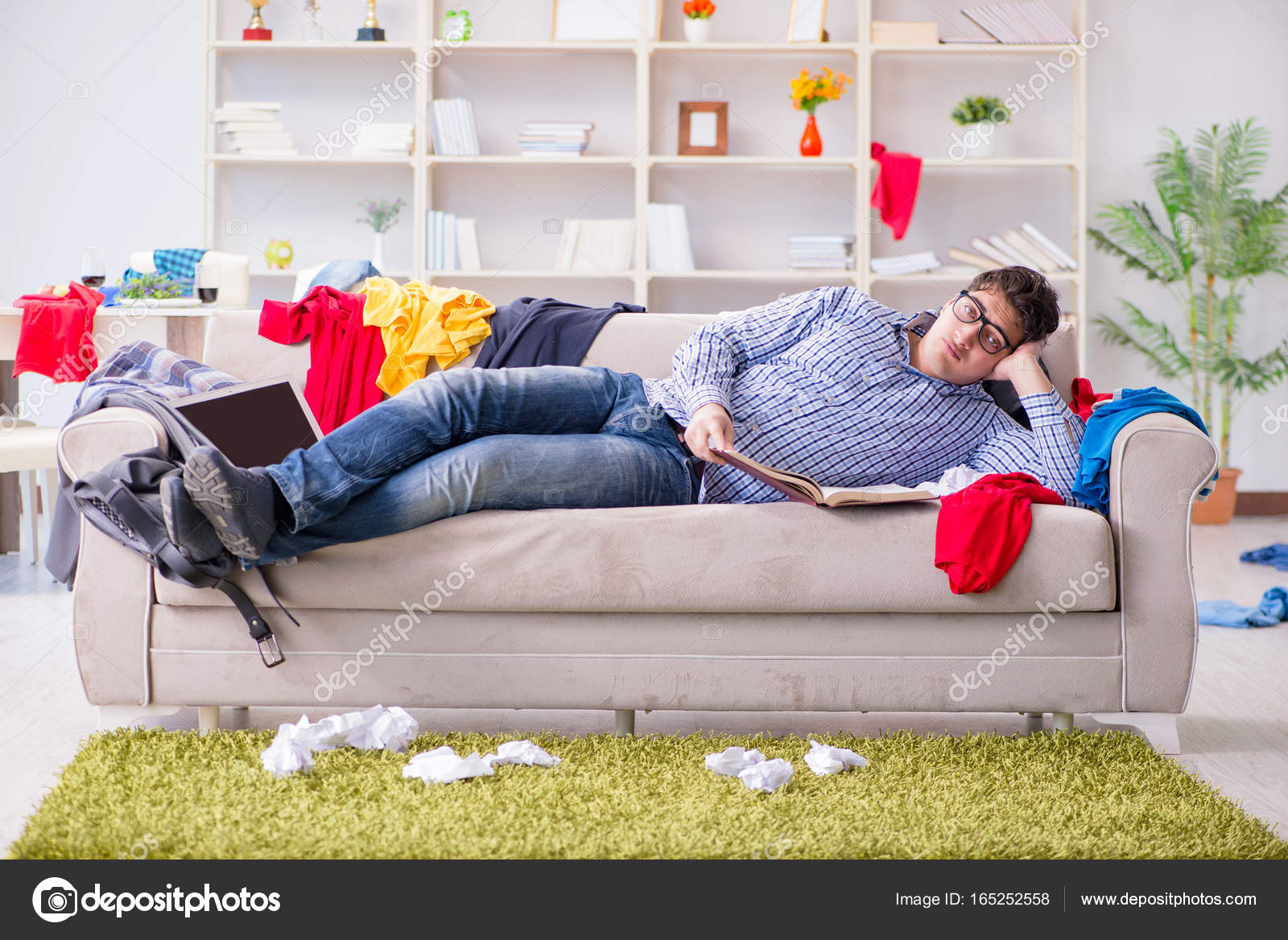 Depositphotos 165252558 stock photo young man working studying in