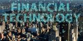 Smart City-Konzept mit Fintech Finanztechnologie Konzept