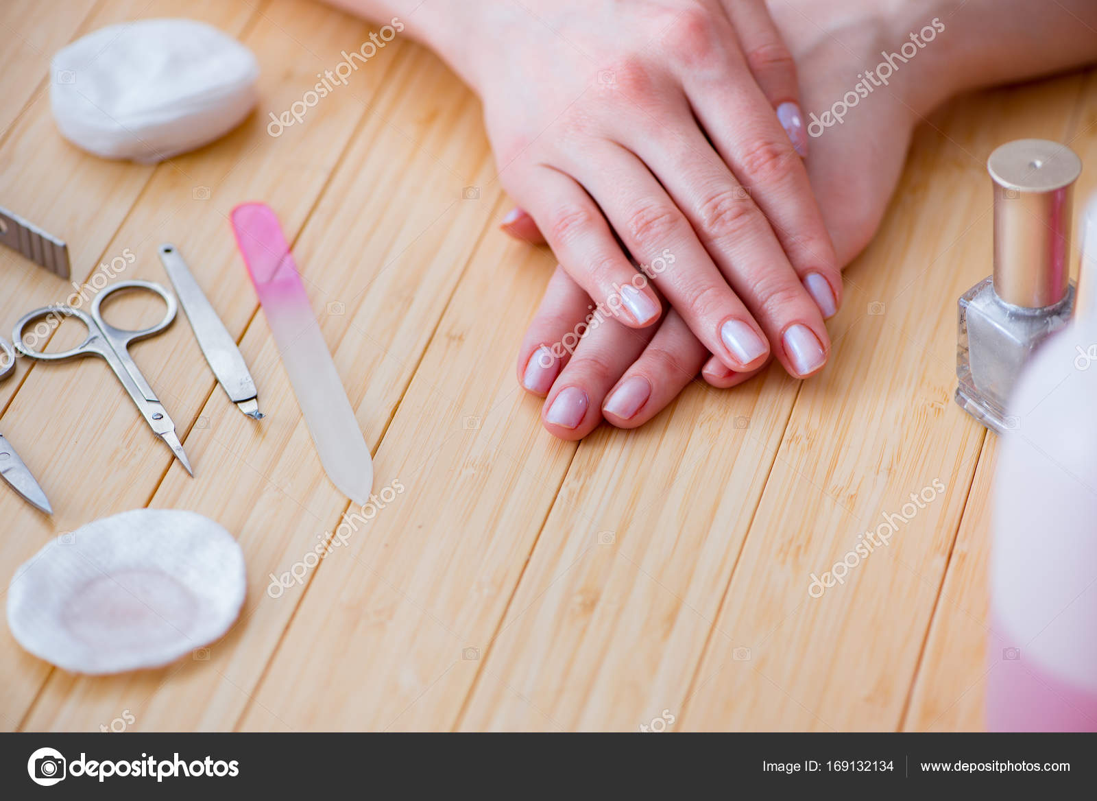 Beauty products nail care tools pedicure closeup — Stock Photo ...