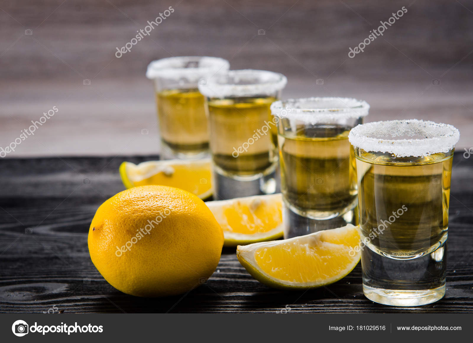 Tequila drink served in glasses with lime and salt — Stock Photo ...