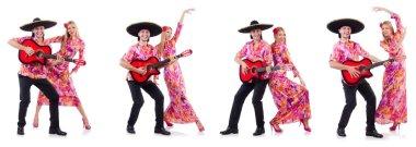 Spanish pair playing guitar and dancing