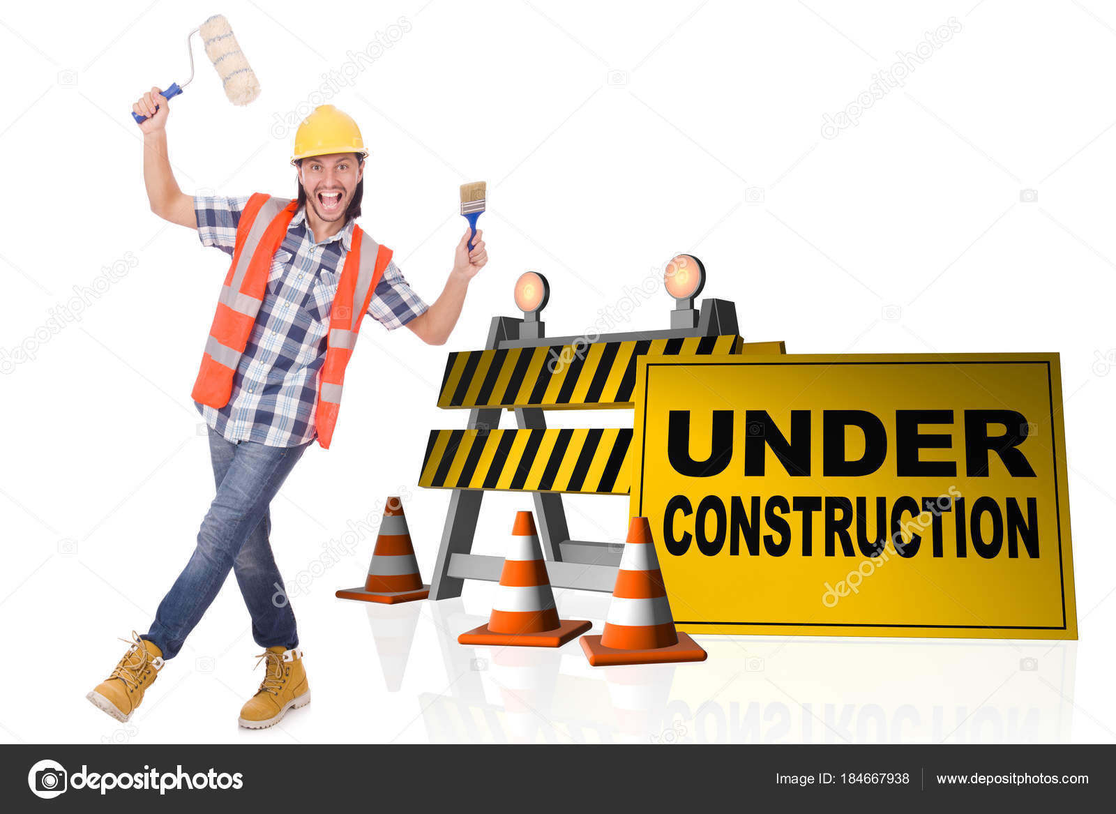 Concept Of Under Construction For Your Webpage Stock Photo