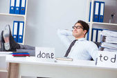 Podnikatel, pracuje na jeho seznamu úkolů