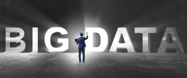 Big Data concept with businessman